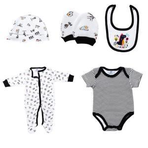 Buy cheap New Born Baby Boy Clothing Sets 100% Cotton Infants Bodysuits 5 Pcs Set from wholesalers