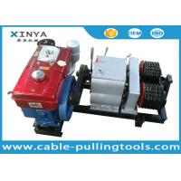 Buy cheap Double Drum Hoist Winch 5 Ton with Diesel Engine for tower erection product