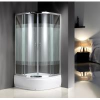 Buy cheap 4mm Tempered Serigraphy Glass Quadrant Shower Enclosures With Handle / Wheels product