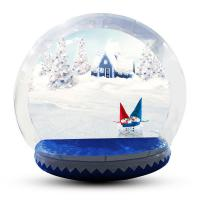 Buy cheap Human Size Snowball Snow Globe / Giant Inflatable Christmas Globe For Festival product