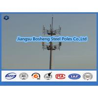 Buy cheap Mobile antenna mast above 95% Penetration rate , steel telegraph poles White Color from wholesalers