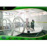 Buy cheap Outdoor Clear Inflatable Bubble Camping Tent PVC Transparent 100% Waterproof product