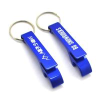 China Customized Blank Metal Aluminum Beer Wine Opener Keychain With Different Color Keyring on sale