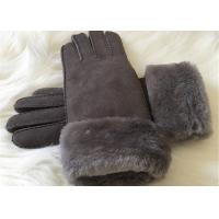 Buy cheap Shearling Sheepskin Gloves Hand Sewing Women Ladies Lamb Fur Winter Gloves product