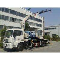 Buy cheap 5 ton car carrier flatbed wrecker recovery tow truck with crane product
