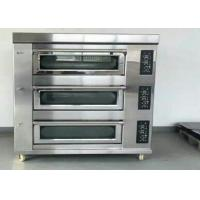 Buy cheap Stainless Steel Baking Oven 3 Deck 9 Trays Electric / Gas Deck Oven product