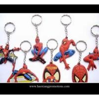China Spiderman series top quality 3d custom shape soft pvc keychain for wholesale on sale