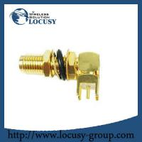Buy cheap sma female connector jack Panel Mount PCB Solder Right Angle goldplated sma connector Long from wholesalers