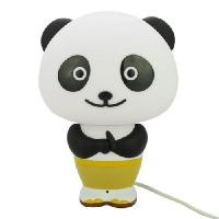 China New Panda Po LED Intelligent Desk Light Smart Voice Control Alarm Clock Desk Lamp on sale