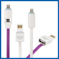China Dual 8 Pin Micro USB Data Transfer Cable Charging Cord Data For Android And IOS on sale