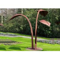 Buy cheap Modern Style Corten Steel Sculpture Abstract Outdoor Garden Leaf Sculpture product