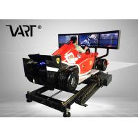 Buy cheap Super Cool F1 Driving Virtual Reality Simulator With 3 Screens / 12 Months Warranty from wholesalers