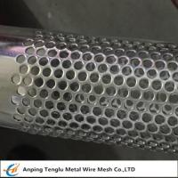 Buy cheap Stainless Steel Perforated Tube|T304 Perforated Pipe with Punching Round Hole Pitch 7mm product