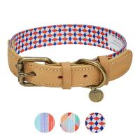 Buy cheap Polyester Webbing Leather Pet Collars Matched Leashes Available product