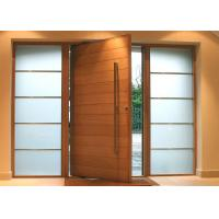 China Solid Wood Modern Pivot Front Doors on sale