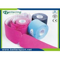 Buy cheap Pre Cut I shape Kinesiology Tape 5cm*5m cotton adhesive elastic tape for sporter with various colours product