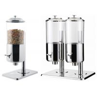 Buy cheap Dry Food Catering Buffet Equipment , Single And Double Stainless Steel Cereal Dispenser product