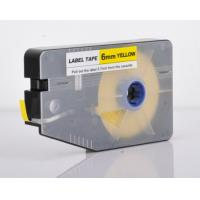 White industrial label maker clear tape tube marking for electric installation