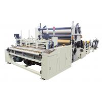 Buy cheap 15KW Tissue Folding Machine , Big Toilet Roll Glue Lamination System Kitchen Towel Rewinding Machine product