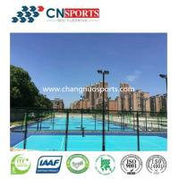 Buy cheap Decorative Beautiful Color Crystal Basketball Court Si-PU Sports Ground Coating from wholesalers
