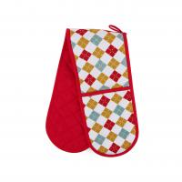 Buy cheap Hand Protect Cotton Double Oven Mitt 17.5 * 80cm Customized Heat Resistant product