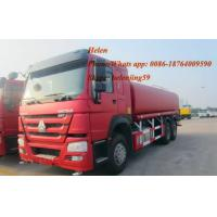 Buy cheap ZZ1257M4641W 290hp Howo 6*4 15m3 16m3 18m3 red color water tank truck from wholesalers