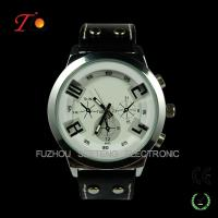 Buy cheap Fashion PU Leather Strap Quartz Wrist Watch for Men from wholesalers