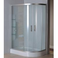 Buy cheap Complete shower units with virgin ABS tray satin silver aluminum alloy #6463 frame product