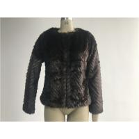 Buy cheap Warm Womens Brown Faux Fur Jacket , Collarless Chubby Short Coat TWS019919 product