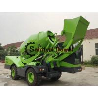 China Auto Self Loading Concrete Mixer Truck with PLC Weighing System on sale