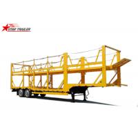 Buy cheap Hydraulic Auto Carrier Trailer , Steel Gooseneck Car Carrier Semi Trailer from wholesalers