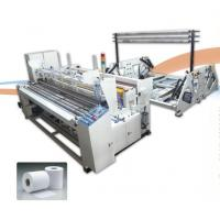 Buy cheap SIEMENS PLC Toilet Paper Production Line , Toilet Paper Rewinding Machine 250m/ Min High Speed product