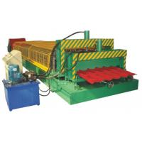 Buy cheap PLC Control Metal Roof Tile Making Machine Thickness 0.3 - 0.8mm product