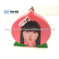Buy cheap Pink Peach Shaped Music Keychain Custom Talking Keychain With Sound product