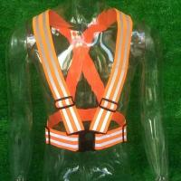 China Fashion Motorcycle Bike Drivers Cyclists Fluorescent Reflective Strap Safety White Vest Belt Clothing on sale