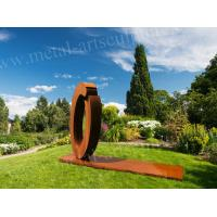 Buy cheap Circle Shape Miracle Design Corten Steel Sculpture For Outdoor Decoration product