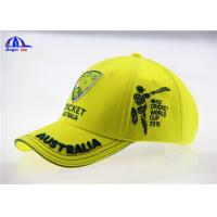 Yellow Brushed Cotton Breathable Custom Baseball Caps with 3D Embroidery Logo
