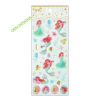 Buy cheap Disney License Meraid Play Epoxy Stickers For Girls  Creative Scene 3D Crystal Designs from wholesalers