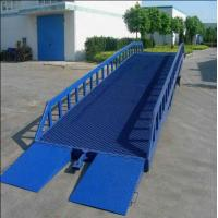 Buy cheap Factory large loading and unloading good hydraulic mobile yard ramp from wholesalers