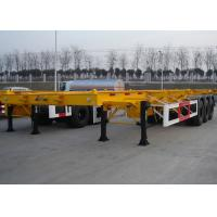 Buy cheap 48 Foot Low Clearance Skeleton Semi Trailer , Gooseneck Container Trailer product