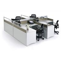 Buy cheap aluminum,glass ,MFC Board parttion with L shape  worktop partition modern cubicle office modular workstation S3-4L14T product