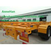 China 3 Fuwa Axle Yellow Triangle Brand tire Flatbed Container Trailer 40ton Flatbed Semi Trailer with warranty and parts on sale