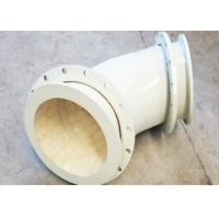 Buy cheap 3.65g/Cm3 High Alumina Ceramic Lined Pipe Fittings , FBE Wear Resistant Elbow product