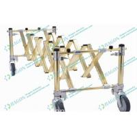 Buy cheap Golden Foldable Aluminum Alloy Funeral Equipment Coffin Trolley with Castor Brake from wholesalers