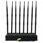 Buy cheap 8 Antennas 20W Desktop Mobile Phone Signal Jammer Blocker Block GSM 3G 4G LTE Wifi GPS Lojack VHF UHF 24 Hours Working product
