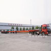 Buy cheap Wind Blade Carrier Transporter Stretchable Trailer for Transporting Wind Blade for sale product