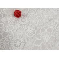 Buy cheap Custom Nylon Mesh Embroidery Dying Lace Fabric For Wedding Dresses Eco Friendly product