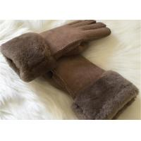 Buy cheap Warmest Sheepskin Leather gloves MENS SUEDE SHEARLING LINED WINTER GLOVES product