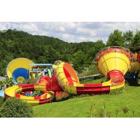 Buy cheap Commercial Trumpet Fiberglass Water Slides For Adults / Water Park Playground from wholesalers