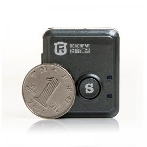 China Coin size mini gps tracker for car with sos alarm vibration alarm rf-v8s on sale